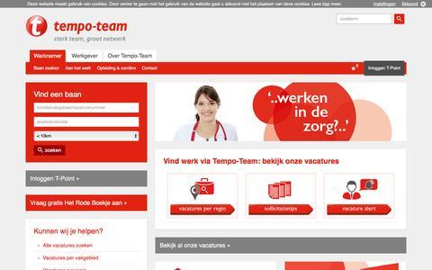 Op zoek naar een baan? - Tempo-Team