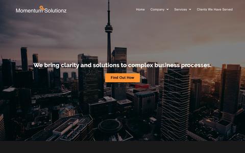Screenshot of Home Page momentumsolutionz.com - Home - Momentum Solutionz - captured Feb. 22, 2020