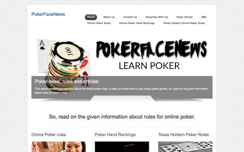 Screenshot of Home Page pokerfacenews.com - PokerFaceNews - Exclusive poker news from today's poker pros - captured July 19, 2018