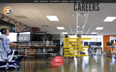 Screenshot of Jobs Page zeeto.io - Zeeto - captured Jan. 13, 2016