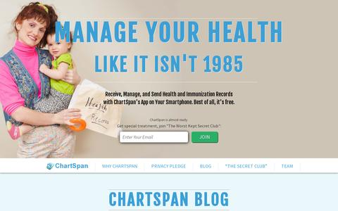 Screenshot of Blog chartspan.com - ChartSpan Blogs- Health News, Lifestyle, Personal Health - captured July 19, 2014