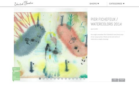 Screenshot of unitedbamboo.com - Pier Fichefeux / Watercolors 2014  |  United Bamboo - captured March 19, 2016