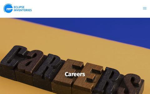 Screenshot of Jobs Page eclipseinventories.co.uk - Careers - Eclipse Inventories - captured Sept. 27, 2018