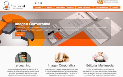 Screenshot of Home Page marpadal.com - Formación online y desarrollo de contenidos multimedia - captured Feb. 12, 2016