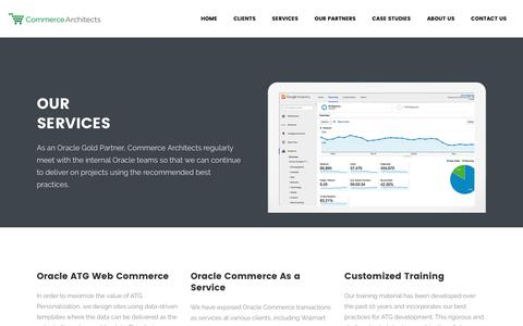 Screenshot of Services Page commerce-architects.com - Our Services – Commerce Architects - captured May 20, 2017