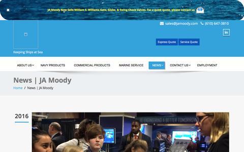 Screenshot of Press Page jamoody.com - News - captured July 20, 2016
