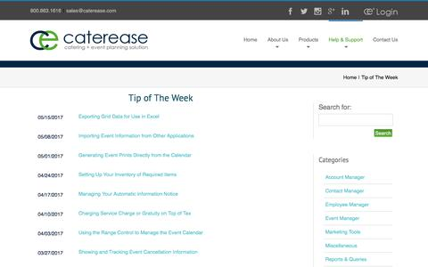 Tip of The Week Archives - Caterease