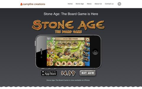 Screenshot of Home Page campfirecreationsinc.com - Campfire Creations | Digital Tabletop Games - captured Oct. 1, 2014