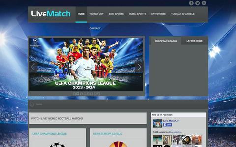 Screenshot of Home Page live-match.tv - Watch live world football matchs - captured Sept. 19, 2014