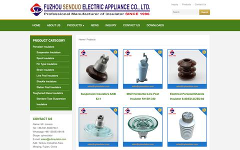 Screenshot of Products Page cyinsulator.com - insulator,insulator manufacturer,insulator price, insulator factory - captured Sept. 28, 2018