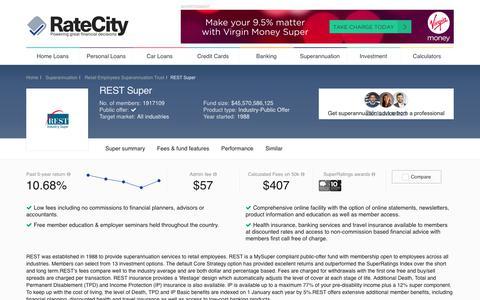 REST Super | Superannuation | RateCity.com.au