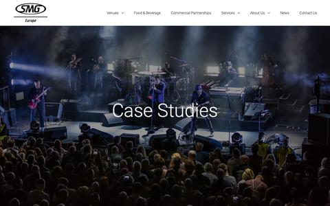 Screenshot of Case Studies Page smg-europe.com - Case Studies - SMG Europe - captured Nov. 5, 2018