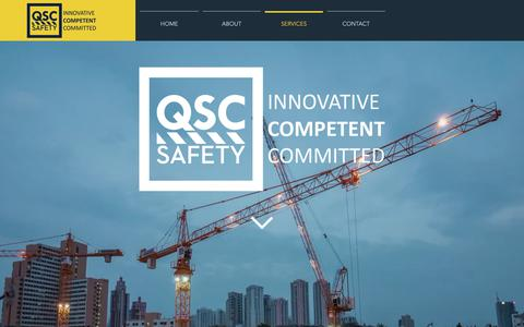 Screenshot of Services Page qscsafety.com - QSC Safety | Services - captured Nov. 10, 2018
