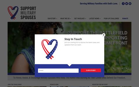 Screenshot of Home Page supportmilitaryspouses.org - Home - Support Military SpousesSupport Military Spouses - captured Nov. 6, 2017