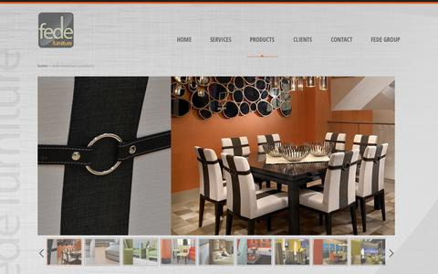 Screenshot of Products Page fedefurniture.com - Fede Furniture Products : Fede Furniture - captured Oct. 5, 2014