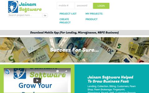 Screenshot of Products Page annualproject.com - Free Download Software   Grow Business   Jainam Software - captured Nov. 6, 2018