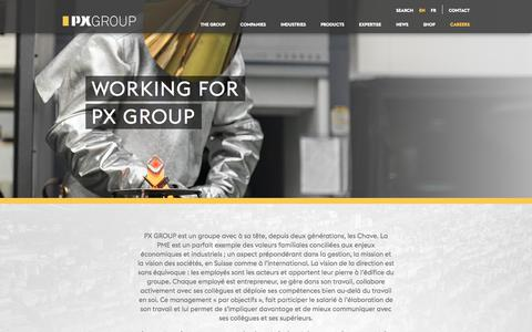 Screenshot of Jobs Page pxgroup.com - Working for PX GROUP | PX Group - captured March 18, 2018