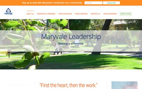 Screenshot of Team Page maryvale.org - Maryvale Leadership - captured Sept. 20, 2018