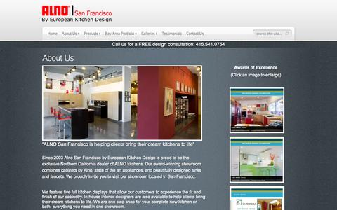 Screenshot of About Page alnosf.com - About Us - ALNO San Francisco - captured Oct. 4, 2014