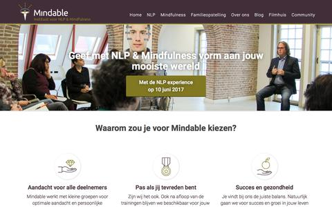 NLP, Mindfulness en Coachings Instituut Mindable in Noordholland.
