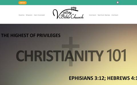Screenshot of Home Page vbcshafter.com - Home - Valley Bible Church - captured May 30, 2019