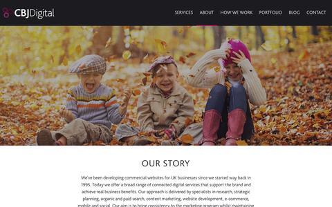 Screenshot of About Page cbjdigital.com - About :: CBJ Digital - captured Jan. 24, 2016