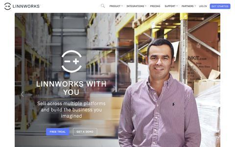 Screenshot of Home Page linnworks.com - Linnworks | Order Management Software » Linnworks - captured Sept. 12, 2018