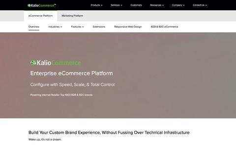 Screenshot of Products Page kaliocommerce.com - Enterprise eCommerce Platform | KalioCommerce - captured Jan. 21, 2016