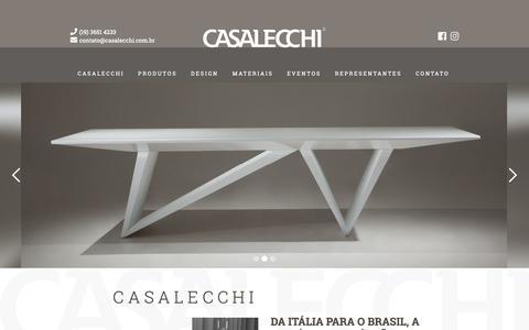 Screenshot of Home Page casalecchi.com.br - Casalecchi - captured Nov. 26, 2018
