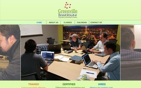 Screenshot of Home Page greenvilleinstitute.com - Greenville Institute | Cisco CCNA Certification - captured Dec. 15, 2015