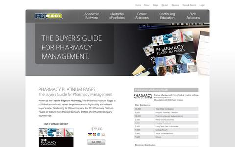 Screenshot of Home Page rxplatinumpages.com - 2014 Pharmacy Platinum Pages | The Resource Guide for the Pharmacy Profession - captured Oct. 2, 2014