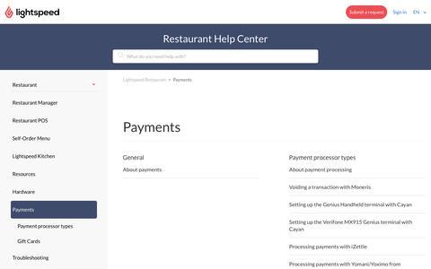 Payments – Lightspeed Restaurant