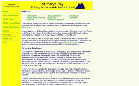 Screenshot of About Page Contact Page stmarysbay.net - About Us - captured May 29, 2016
