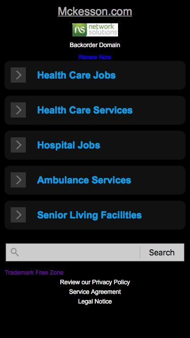 Screenshot of Landing Page  mckesson.com - Mckesson.com