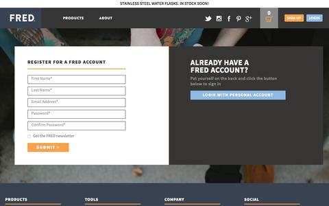Screenshot of Signup Page fredwater.com - Create New Customer Account - captured Feb. 10, 2016