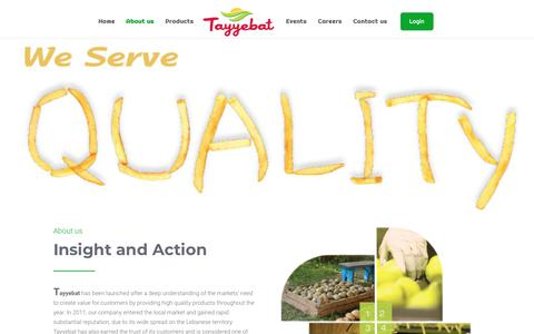 Screenshot of About Page tayyebat.com.lb - About us | Tayyebat - captured Nov. 14, 2017