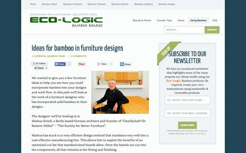 Screenshot of Home Page bamboo-board.com - Examples of bamboo timber in the real world - captured Jan. 30, 2015