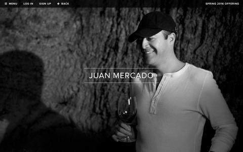 Screenshot of Team Page realmcellars.com - Realm Cellars - Team - Juan Mercado, Founder - captured Feb. 2, 2016