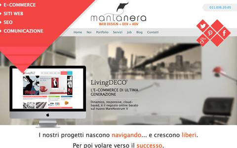 Screenshot of Home Page mantanera.it - Agenzia di comunicazione | siti web | E-commerce Torino - captured Sept. 26, 2018