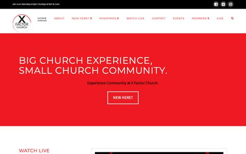Screenshot of Home Page realrelevant.com - X Factor Church - A Christian Church in Albuquerque, NM | X Factor Church exists to engage, encourage, and equip people to become everything that God has called them to be. - captured Oct. 18, 2018