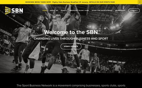Screenshot of Home Page sportbusinessnetwork.com - The Sport Business Network - captured Jan. 11, 2016