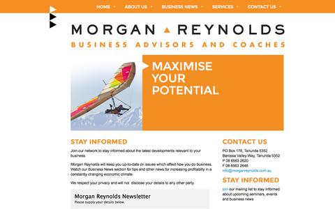 Screenshot of Signup Page morganreynolds.com.au - Morgan Reynolds Business Advisors and Coaches - captured Oct. 26, 2014