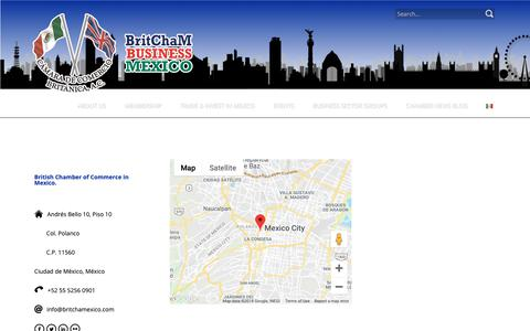Screenshot of Contact Page britchamexico.com - Contact Us – British Chamber of Commerce in Mexico - captured Oct. 6, 2018