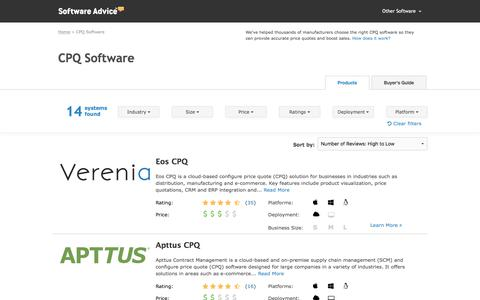 Best CPQ Software - 2017 Reviews, Pricing & Demos
