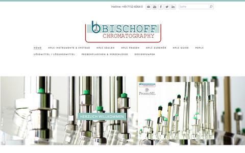 Screenshot of Home Page bischoff-chrom.de - BISCHOFF ANALYSENTECHNIK U. -GERÄTE GMBH - HOME - captured April 25, 2018