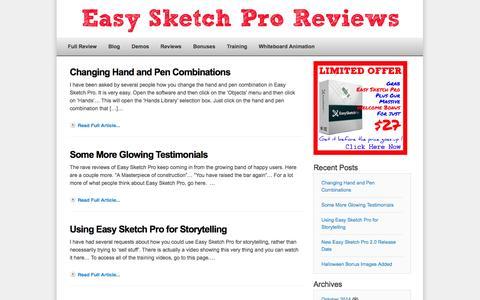 Screenshot of Blog easysketchproreview.net - Easy Sketch Pro Reviews Blog | Easy Sketch Pro Review - captured Nov. 2, 2014
