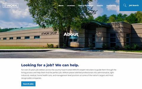 Screenshot of About Page atwork.com - About AtWork Group | AtWork - captured Aug. 20, 2018