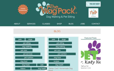 Screenshot of Blog thewagpack.com - The Wag Pack Midday Dog Walking and Pet Sitting: Blog - captured Nov. 17, 2017
