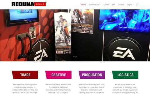 Screenshot of Home Page reduna.com - Reduna | Retail & Social Media Agency - captured Feb. 25, 2016