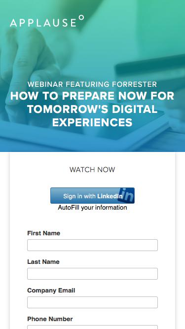 Forrester Webinar: How To Prepare Now For Tomorrow's Digital Experiences